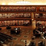 A Large Beautiful Auditorium Library